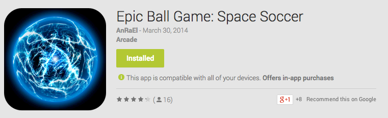 Epic Ball Game: Space Soccer Android App Review