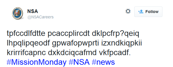 NSA Saves America By Hiring Through Tweets