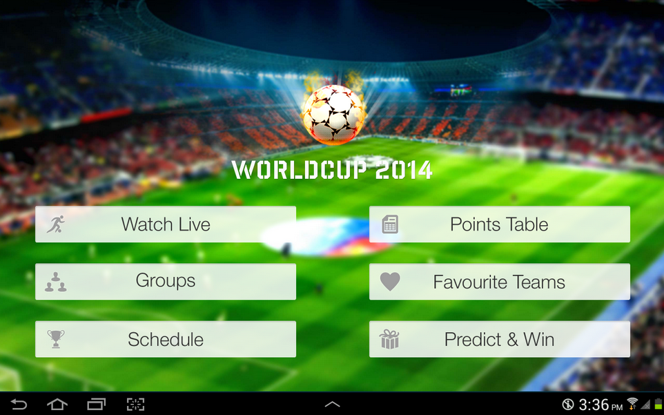 Live Football World Cup 2014 Android App Review
