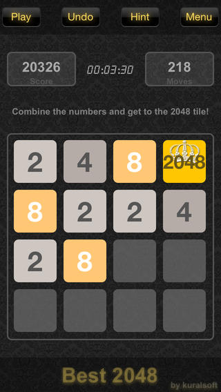 2048 iPhone game