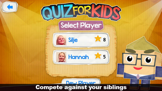 iPhone quiz game for kids