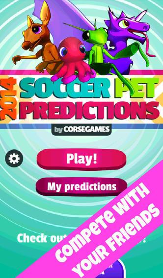 2014 Soccer Pet Predictions iPhone App