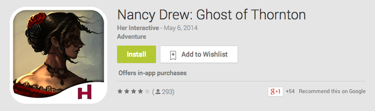 Nancy Drew: Ghost of Thornton Android App Review