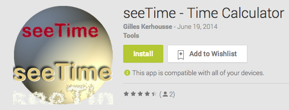 seeTime - Time Calculator Android App Review