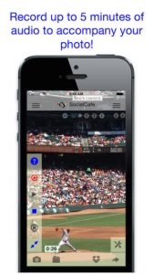 SocialCafe Audio Photo iPhone App