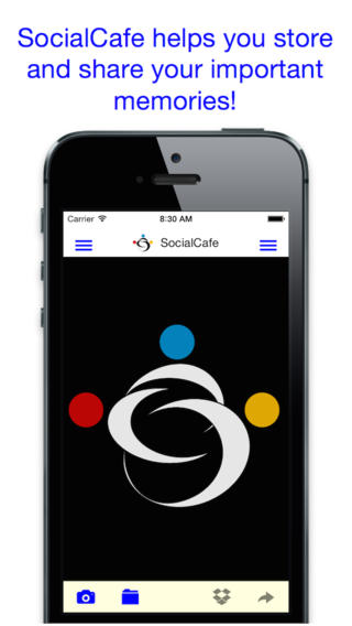 SocialCafe Audio Photo iPhone App