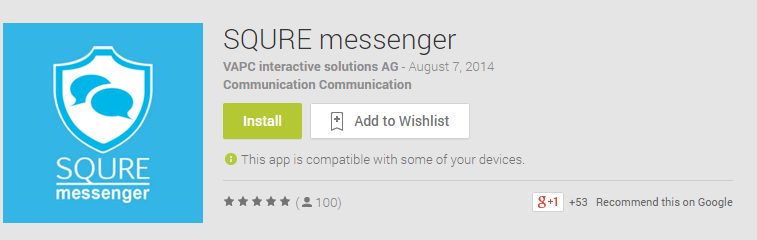 SQURE messenger Android App Review