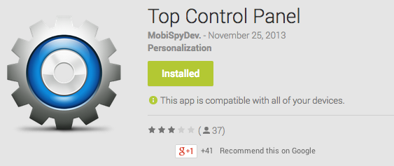 Top Control Panel Android App Review