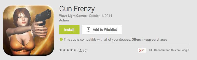 Gun Frenzy Android App Review