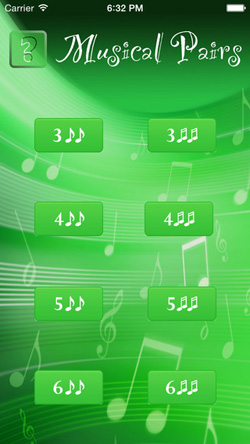 Musical Pairs Screen 1