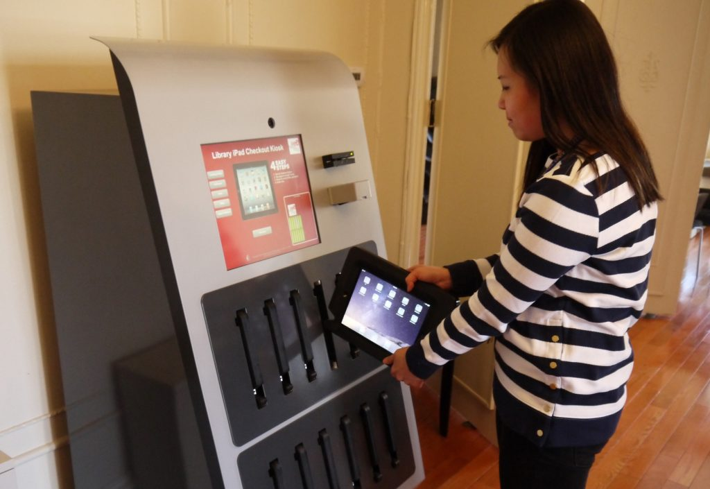 So, if you're a cash rich private university with everything, including a $650 million endowment, what do you buy next? Say, iPad vending machine...