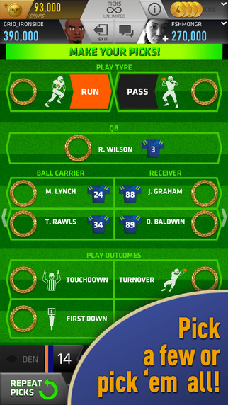 What's Your Play? In ringit! Pro, You're the NFL Coach