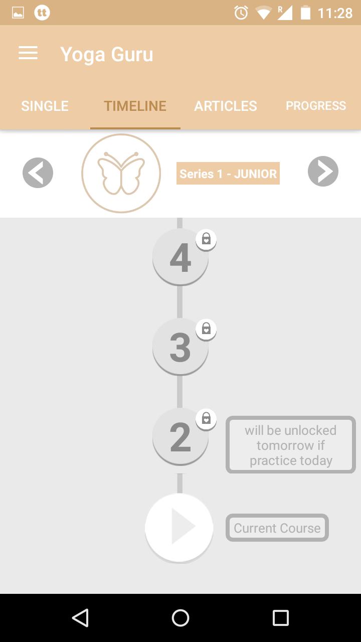 Yoga Guru - Course timeline