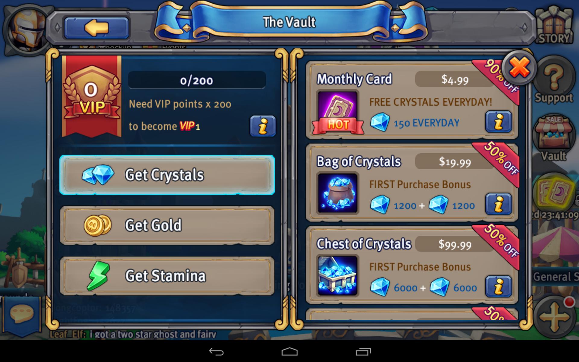 Heroes Tactics - Cash Shop