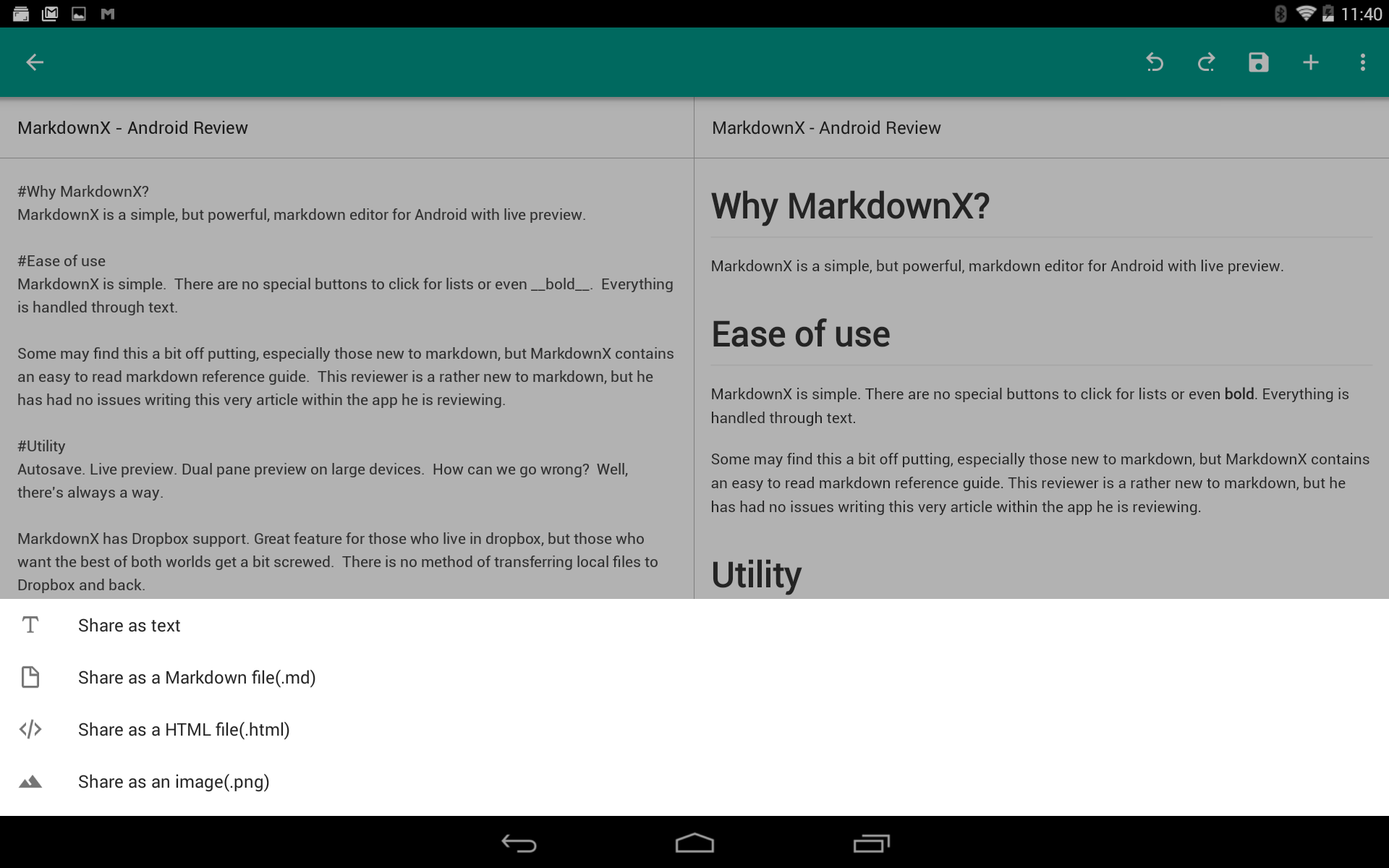 MarkdownX - Android Review