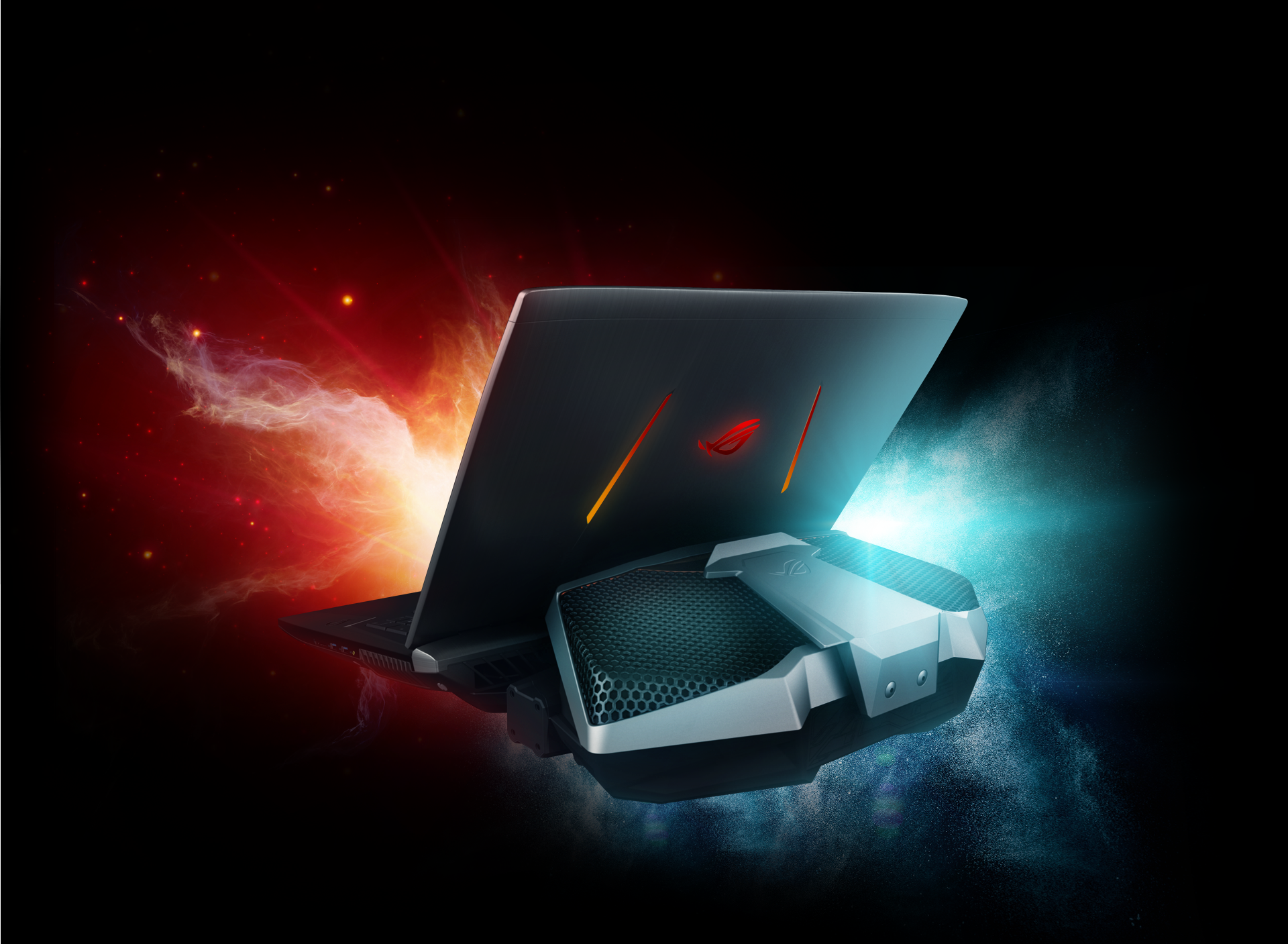 ASUS ROG GX800 is a liquid cooled laptop with the fastest hardware in a gaming notebook