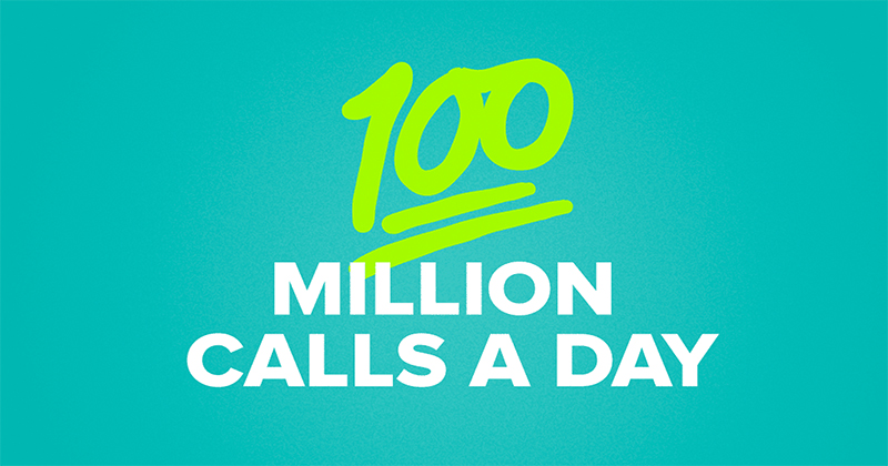 WhatsApp users make 100 million calls a day