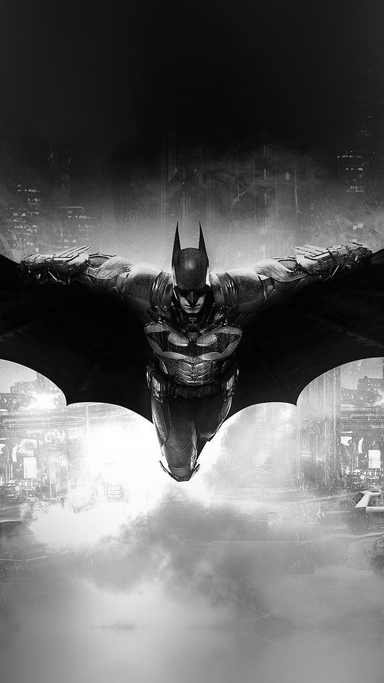 Black and White Batman HD Gaming Wallpapers for iPhone 7