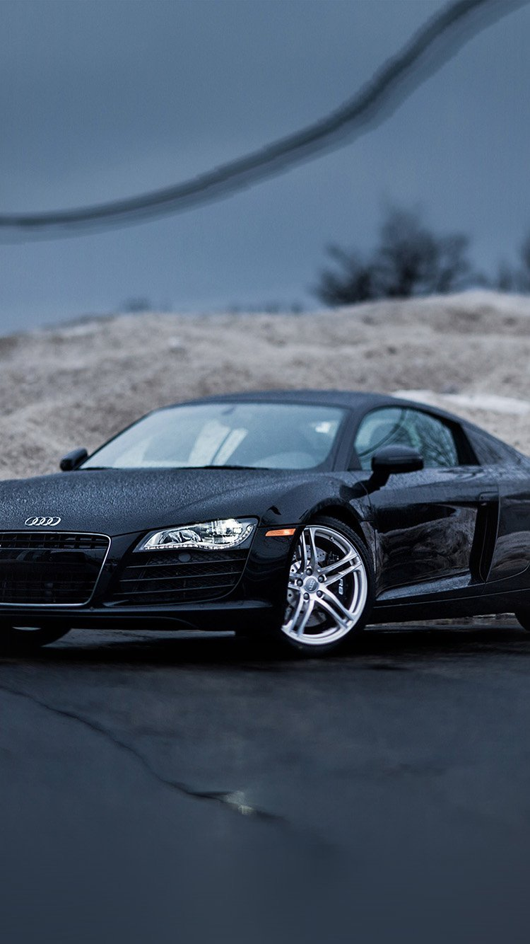 Black Audi Car Wallpapers for iPhone 7 in HD