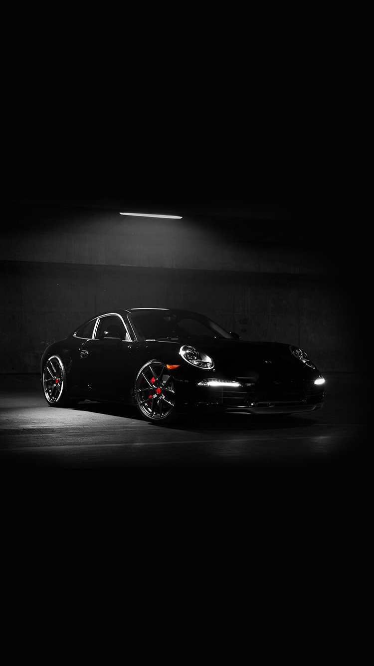 Black Porsche 911 Car Wallpapers for iPhone 7 in HD