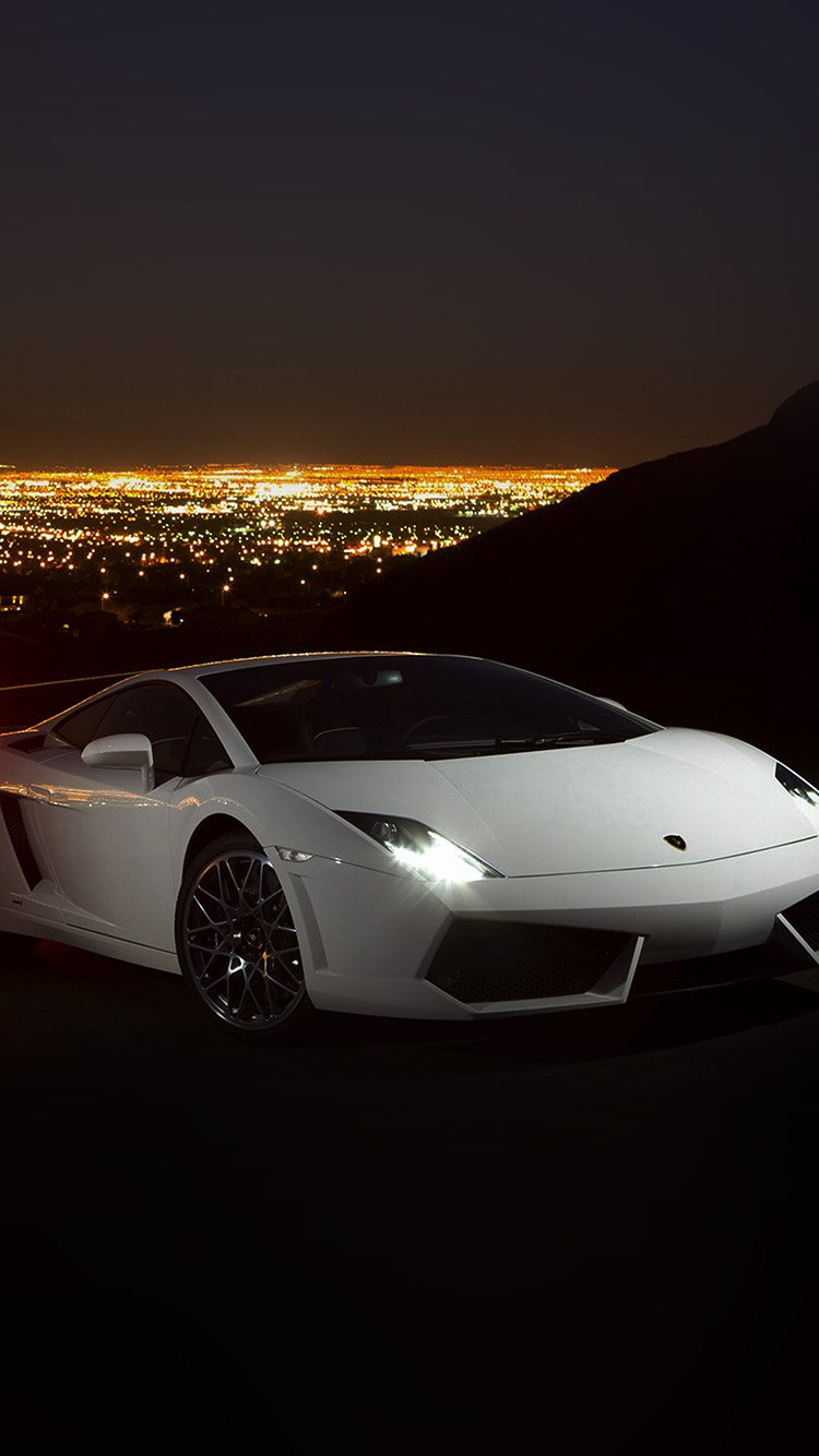 White Lamborghini Car Wallpapers for iPhone 7 in HD