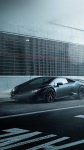 Dark Black Lamborghini Car Wallpapers for iPhone 7 in HD