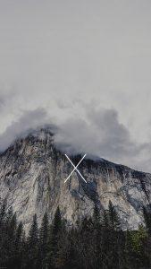 Cloudy Mountain iPhone 7 Wallpaper
