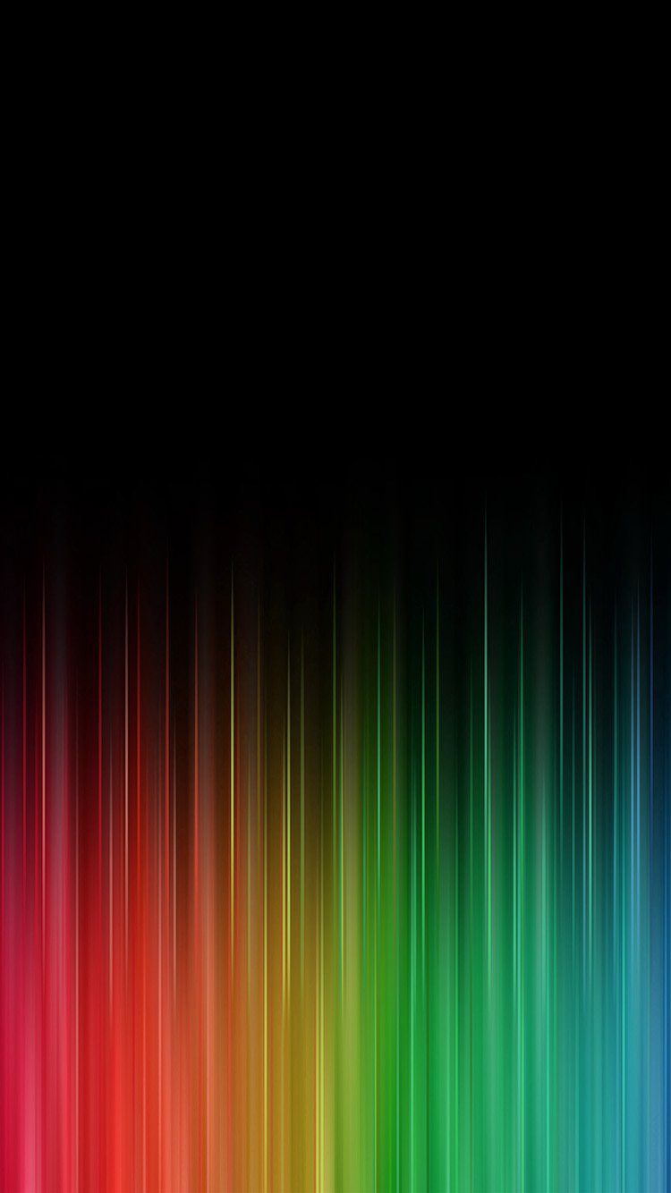 Black Rainbow iPhone 7 Colorful Wallpapers