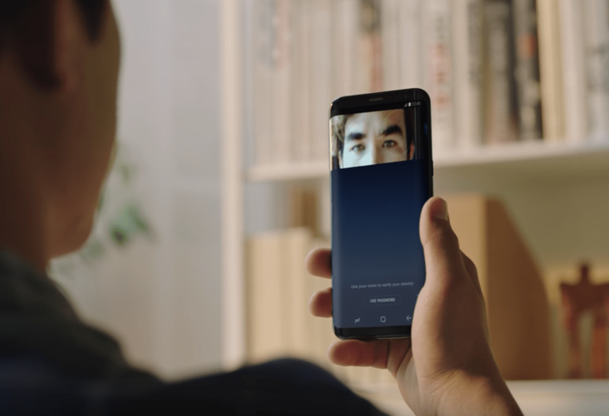 Image of new Iris and Facial scanning on the Samsung Galaxy S8
