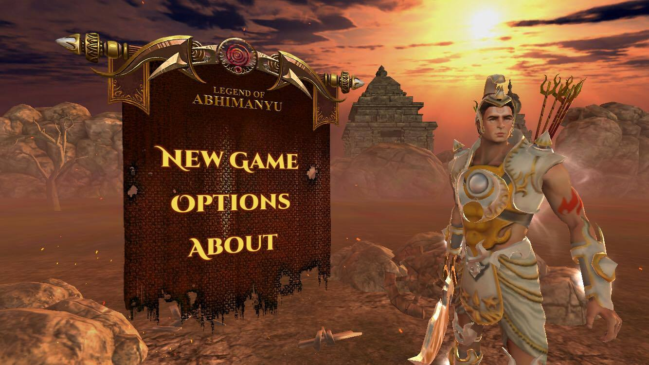 Screenshot of LoA - Legend of Abhimanyu Game iOS home page
