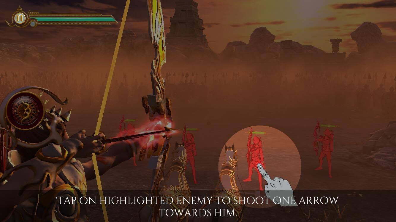 Screenshot of LoA - Legend of Abhimanyu iOS Game Tutorial