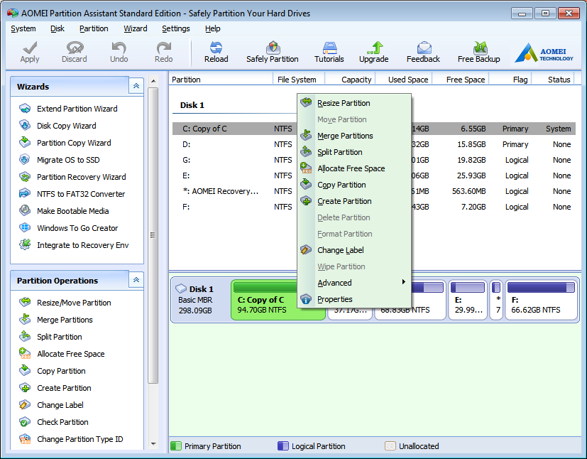 AOMEI Partition Assistant 6.3 Image 2