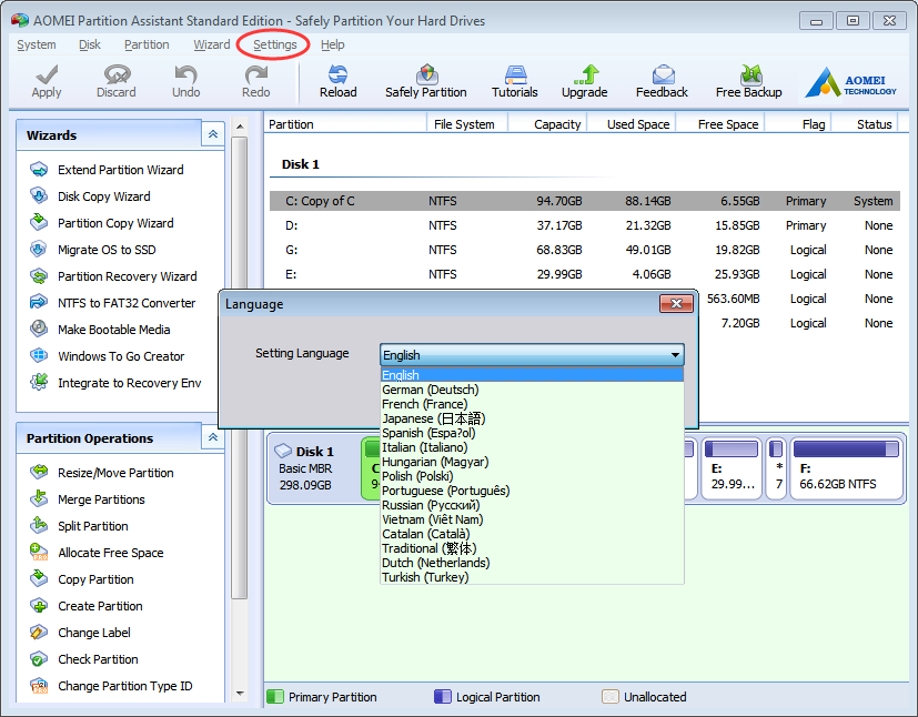 AOMEI Partition Assistant 6.3 Image 3