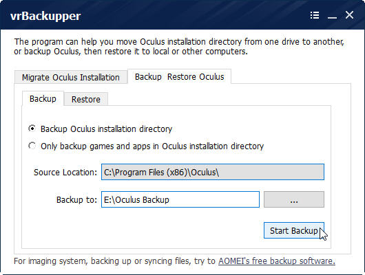 Review: vrBackupper - The First & Free Oculus Rift Backup Tool
