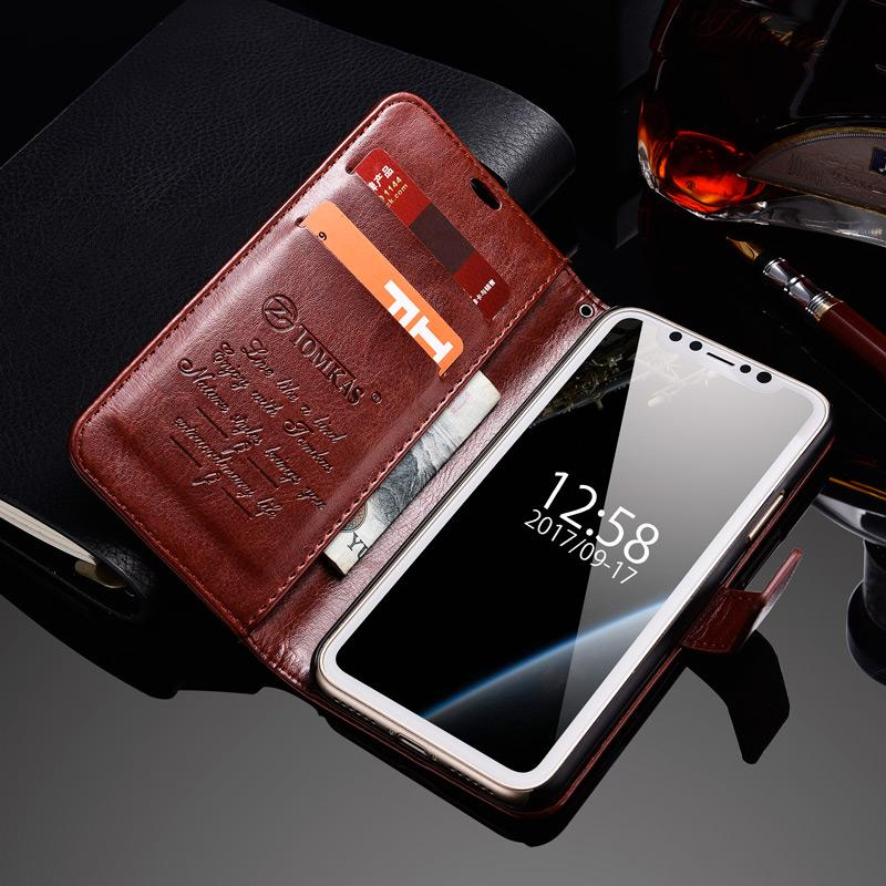 Genuine Leather Wallet Case For iPhone X 1