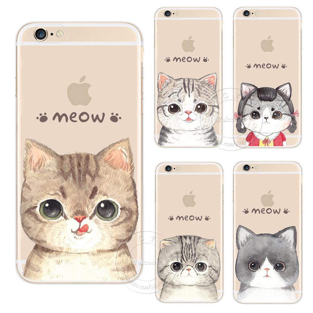 iPhone X Super Cute Cat Hard Plastic Case