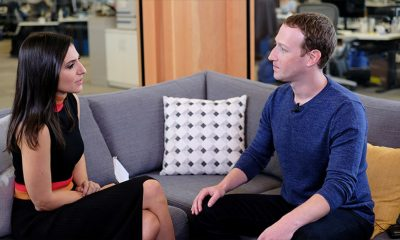 Mark Zuckerberg during an interview with CNN's Laurie Seggal