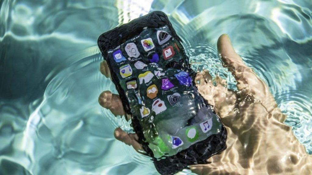 iPhone waterproofed