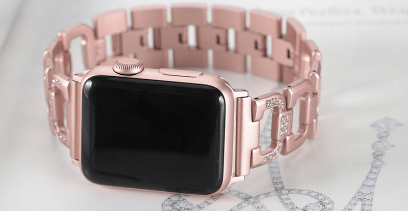 Secbolt's Rhinestone Bling Apple Watch Band