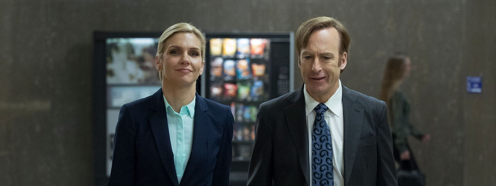 An image of Jimmy with his friend Kim in Better Call Saul