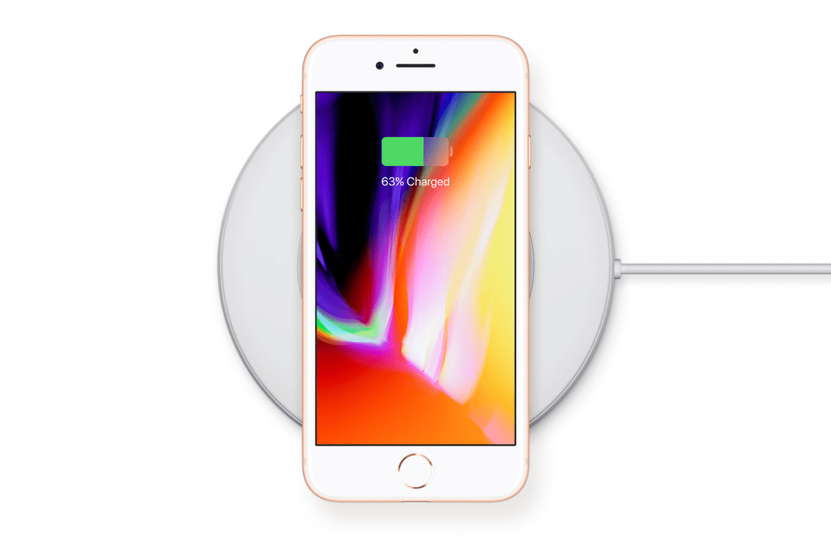The iPhone 8 supports wireless charging