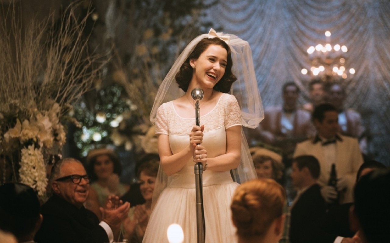 A picture from Miriam's wedding after which she becomes Mrs . Maisel