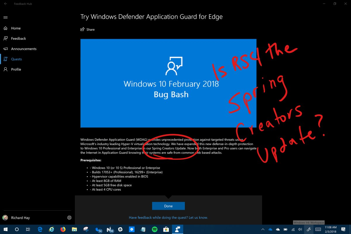 Is this the Spring Creators Update? Not anymore