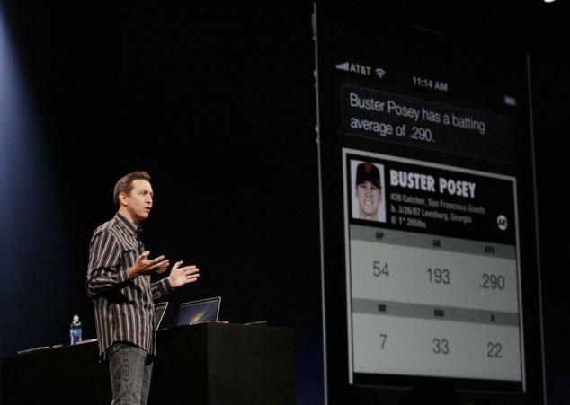 Scott Forstall showing off Siri at WWDC 2012