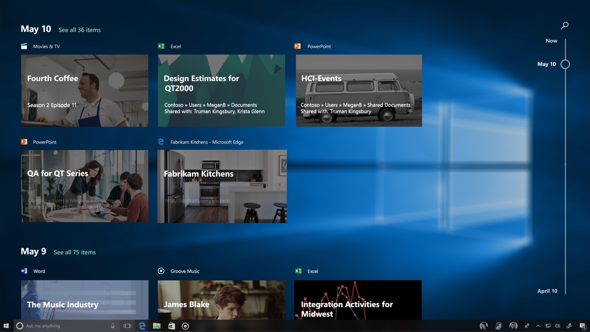 Windows 10 April 2018 Update packs the Timeline feature