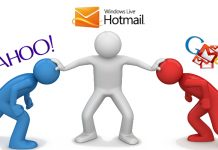 An image of Yahoo, Gmail and Hotmail Logos