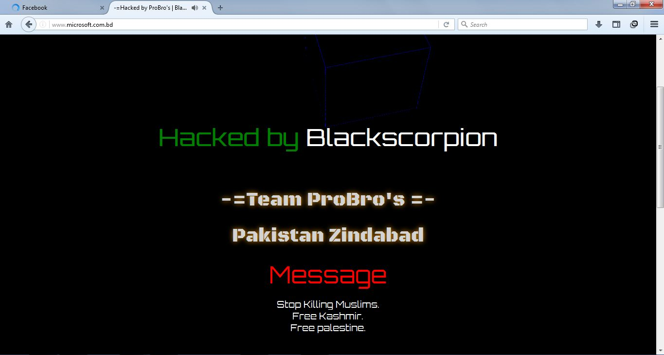Microsoft.bd Hacked By BlackScorpion