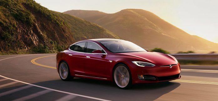 An image of Tesla's Self Driving Car