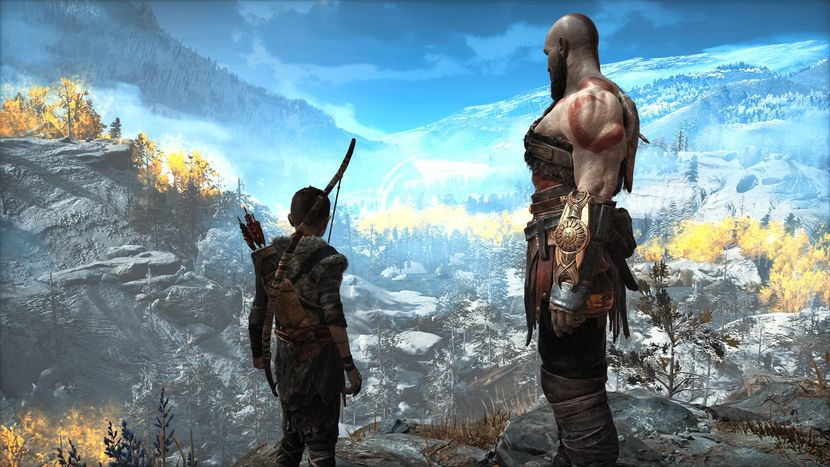 Atreus & Kratos from God of War 4 game on PS4