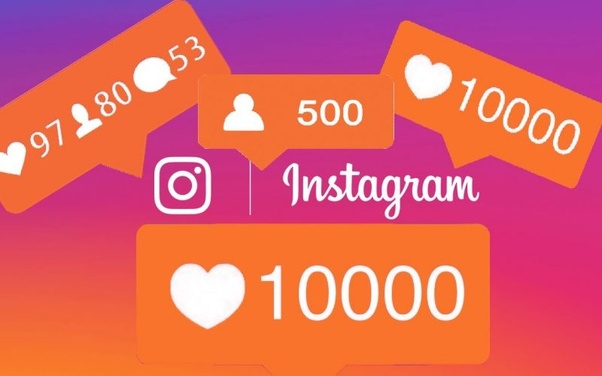 An image of instagram likes and followers.